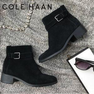 Cole Haan Putnam Bootie Suede Buckle Zip 6